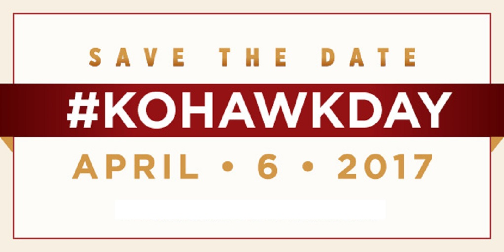 Save the date, #KohawkDay is April 6!