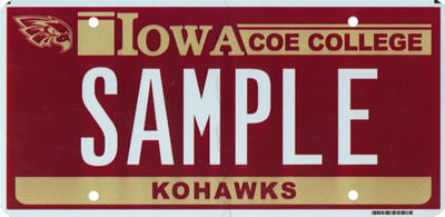 Coe License Plate - Sample
